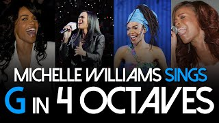 Michelle Williams Sings G in 4 Octaves (G3-G6)