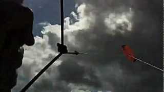Kite par vent de Nord à Veulette-sur-Mer