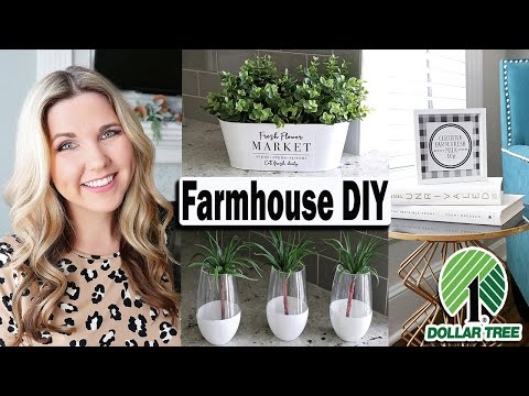 Dollar Tree DIY ⚫ Farmhouse DIY IDEAS on a budget 2019
