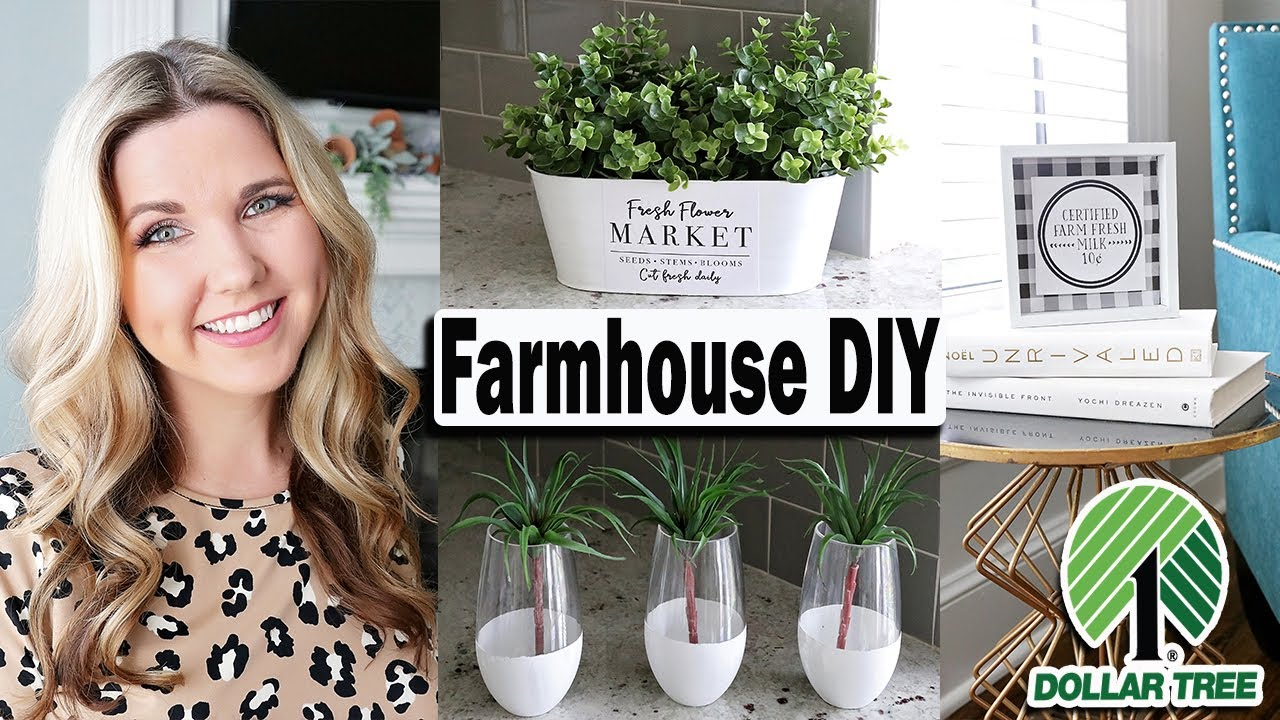 Dollar Tree Diy Farmhouse Diy Ideas On A Budget 2019 Youtube