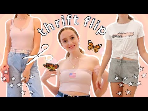 THRIFT FLIP // turn OLD clothes into NEW *diy brandy melville and save!*