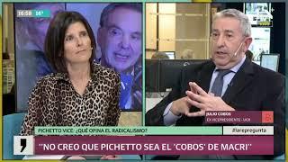 Julio Cobos opina sobre la fórmula Macri-Pichetto:
