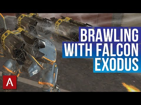 War Robots Gameplay / Brawling With Falcon Exodus / Champion League Hangar | WR