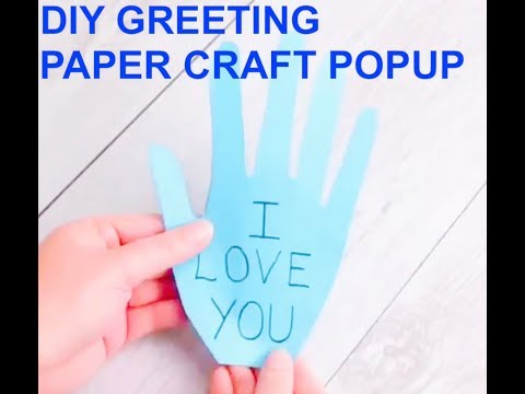 DIY GREETING PAPER CRAFT POPUP [I LOVE MUM]| DIY Ideas for Making Pop-Up Cards| Paper DIY Craft Idea
