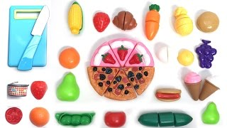 Toy Cutting Velcro Wooden & Plastic Fruits Food Playset Fruta De Madera Para Cortar & Surprise Eggs