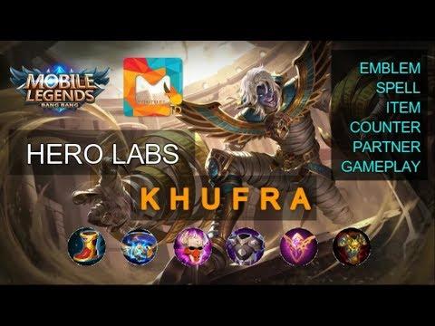 Tutorial ITEM TERKUAT KHUFRA Skill Emblem Spell Dan GAMEPLAY - MGL Indonesia