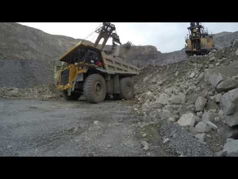 Opencast mining iron ore. Russia, Murmansk region. GoPro HERO 4 Black. in 4K