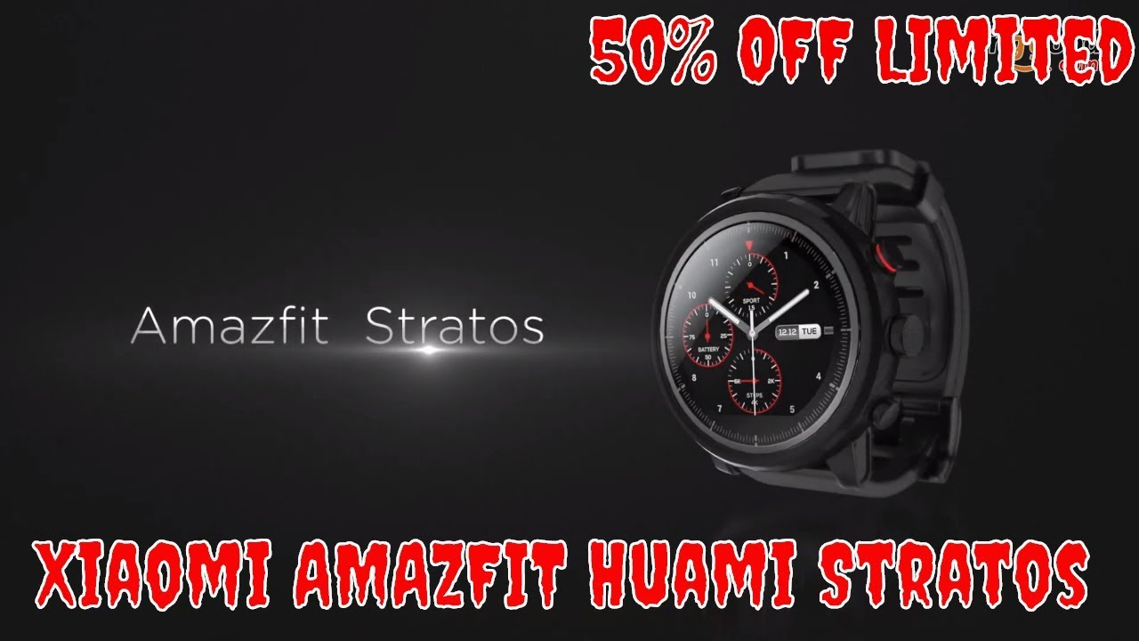 International Version AMAZFIT Stratos Sports Smart Watch 2 GPS 1 34inch  2 5D Screen 5ATM from xiaomi Eco-System