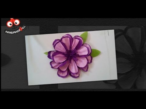 DIY Home Decor - How to Make a Crepe Paper Flower for Wall Decor + ...