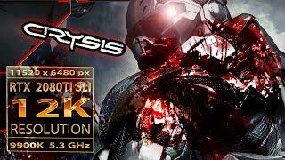 Crysis 12K | RTX 2080 TI SLI 12K gaming | 9900K 5.3GHz | crysis 12K resolution