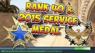 CS:GO - Reaching Global General Rank 40 & The 2015 Service Medal