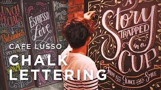 Cafe Lusso Chalk Lettering x Neil Torres
