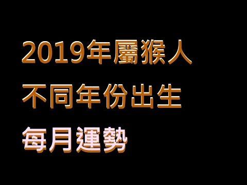 ☯️2019年屬猴人不同年份出生的🐒全年運勢大全[2019年🐒每月運勢][純文字]