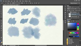 3. Watercolor Painting In Photoshop - Brushes and how to use them. Video 3