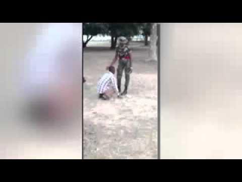 "Female Nigerian Soldier beats civilian for calling her""beautiful"""
