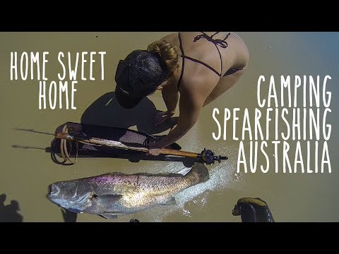 Home sweet home - Camping & Spearfishing in Australia (Underwater Ally Adventures) Ep.14