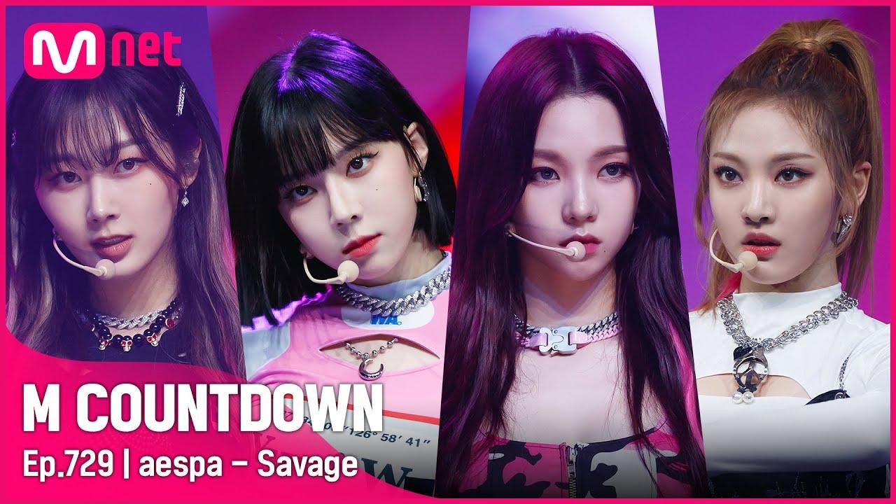 Download [aespa - Savage] Comeback Stage | #엠카운트다운 EP.729 | Mnet 211014 방송