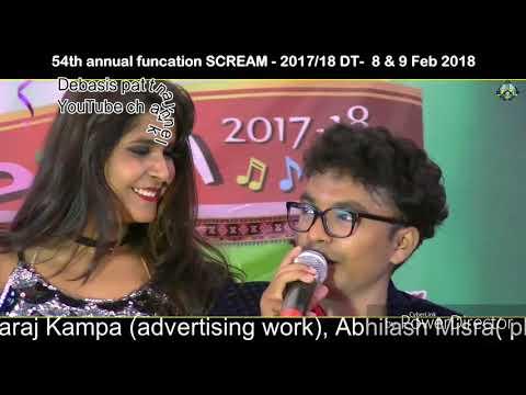 Mantu chhuria & Mis simran dhamakedar profomen in 54th annual function of sonepur college.