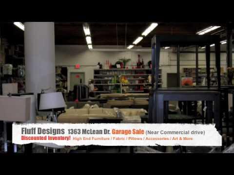 Fluff Design Vancouver High End Furniture Garage Sale