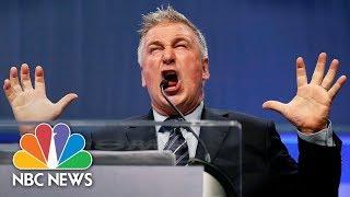 Alec Baldwin Channels President Donald Trump For Iowa Democrats   NBC News