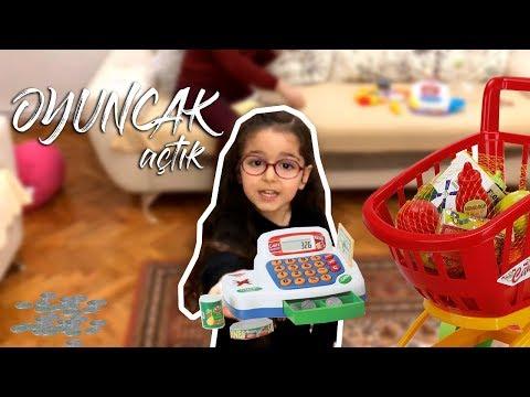 Market Kasası Ile Oynuyoruz Oyuncak Açtık, Eğlenceli çocuk Videosu. Toys Unboxing