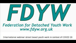 170620 International webinar  Street based youth work in context of COVID 19