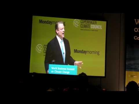 Al Gore challenges business leaders in Copenhagen