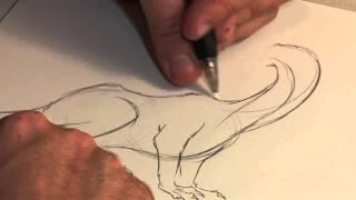 Как нарисовать дракона от руки за пару минут