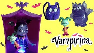 Disney Vampirina Glowtastic Friends Ghoul Glow Light Up Talking Toys with Backpack Funtoys