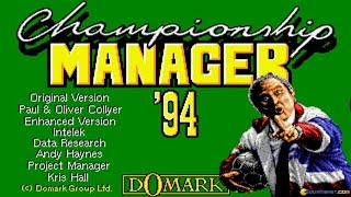 Championship Manager 1994 gameplay (PC Game, 1994)