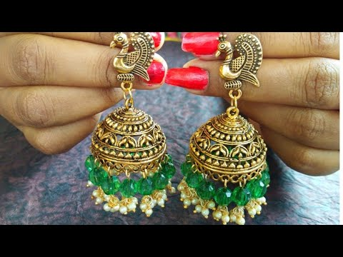 How To Make Easy DIY Earrings Jhumkas / DIY Metal Jhumkas Earrings at home