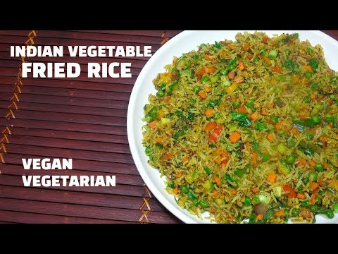 Quick & Easy Indian Vegetable Fried Rice - Fried Rice - Spicy Veg Rice - How to make Veg Fried Rice