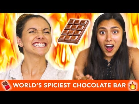 TRYING THE WORLD'S SPICIEST CHOCOLATE BAR 🔥🍫 with Alyson Stoner