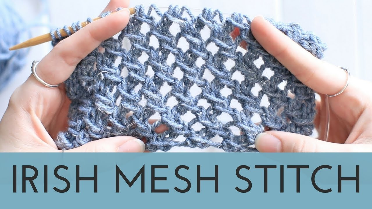 Irish Mesh Stitch - Easy Lace Stitch