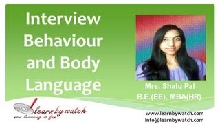 Interview Behaviour and Body Language (English)