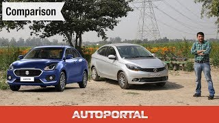 Maruti Suzuki Dzire vs Tata Tigor Comparison Review - Autoportal