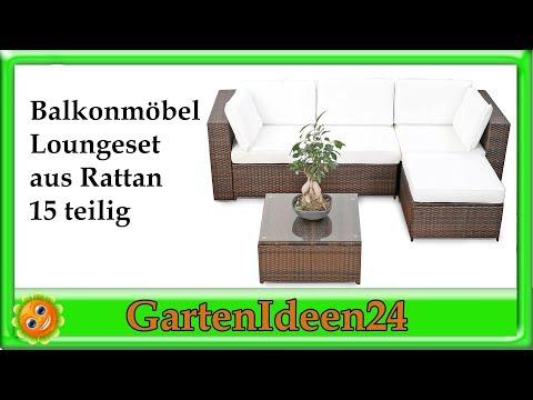 Balkonmoebel Lounge | Gartenidee | Loungemöbel aus Polyrattan für Garten, Terrasse und Balkon