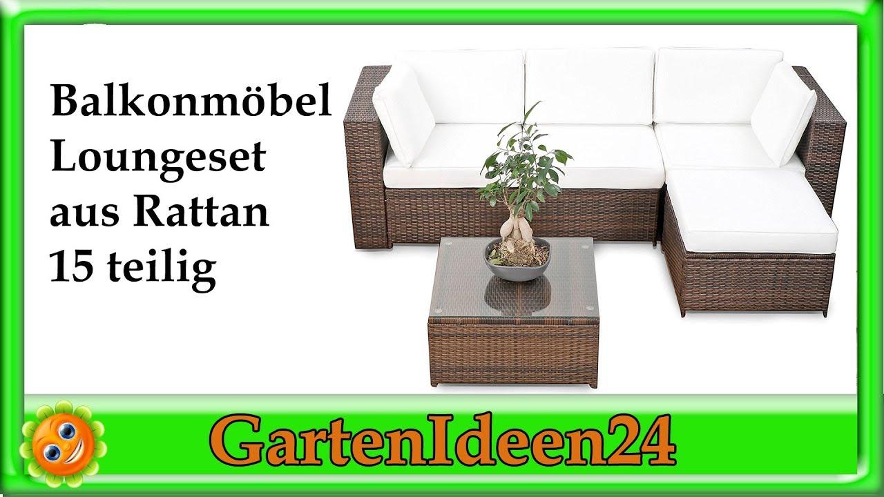 Balkonmoebel Lounge | Gartenidee | Loungemöbel aus Polyrattan für ...