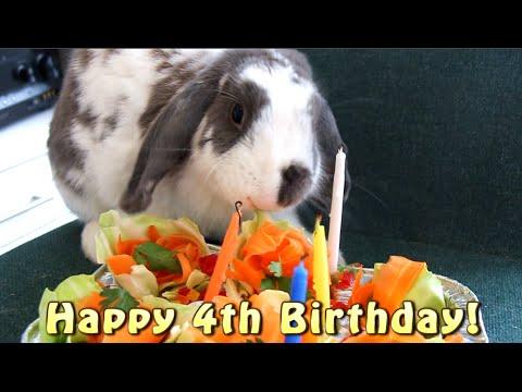 Happy 4th Birthday Bini The Bunny Rabbit Friendly Cake