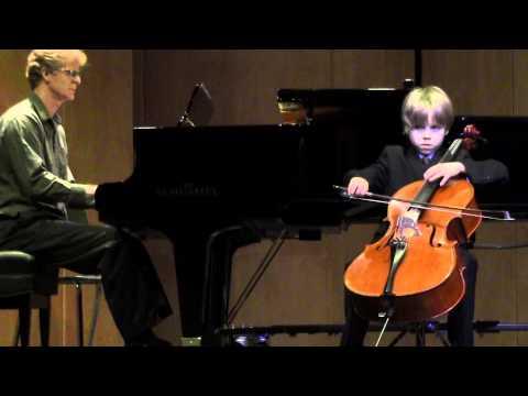 Haydn cello concerto in C Major, mov 3 Keenan, age 9