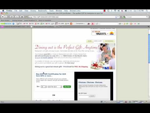 How to Use a Restaurant.com Coupon Code - YouTube
