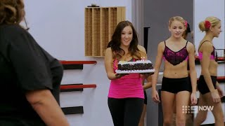 Dance Moms - Abby Brings A Cake For Maddie + Jill Can't Accept Nia's Earnt Solo (S4 E01)