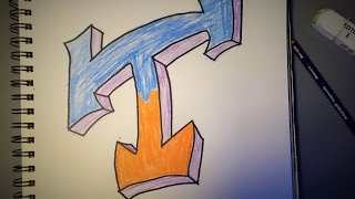 "How to Draw a Graffiti Style ""T"""