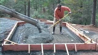 Pouring A Concrete Slab Foundation