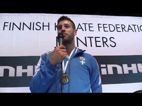 Interview to Georgios Tzanos of Greece. Gold medalist. 49th European Karate Championships