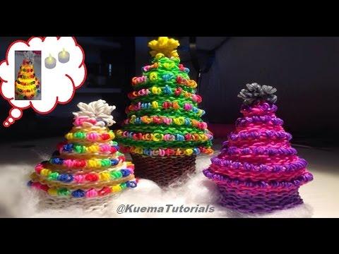 Rainbow Loom Weihnachtsbaum Christmas Treesmall And Big Youtube