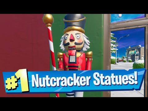 Destroy Nutcracker Statues Locations - Fortnite (Operation Snowdown Quest)
