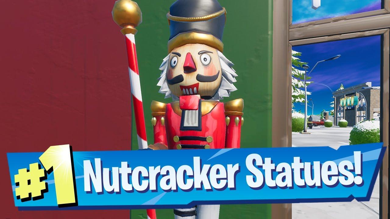 Destroy Nutcracker Statues Locations Fortnite Operation Snowdown Quest Youtube