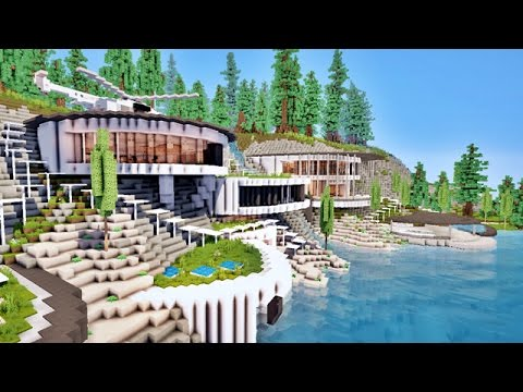 norme villa moderne de luxe sur falaise entre mer et for t sur minecraft youtube. Black Bedroom Furniture Sets. Home Design Ideas