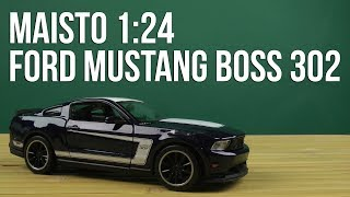 Розпакування Maisto 1:24 Ford Mustang Boss 302 (31269 blue)